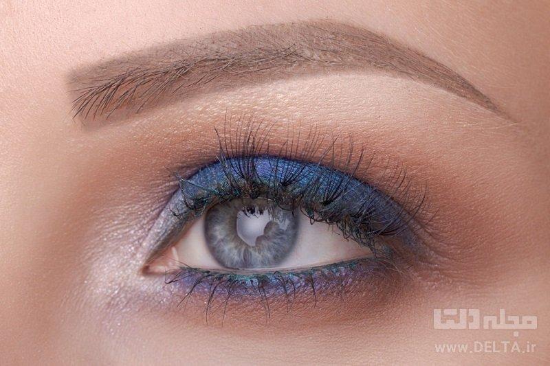 خط چشم براي چشم آبي