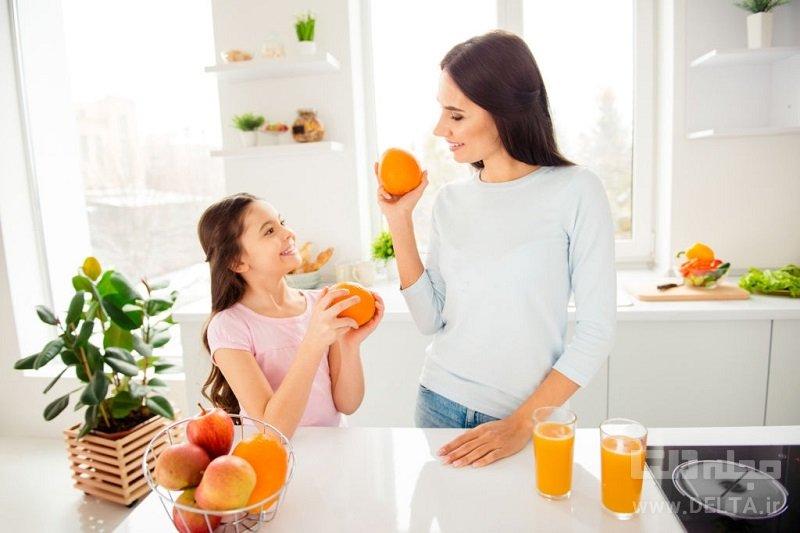 خواص آب پرتقال در صبحانه