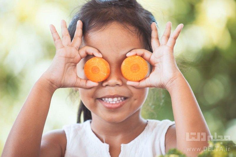خوراکی های مفید برای چشم کودکان