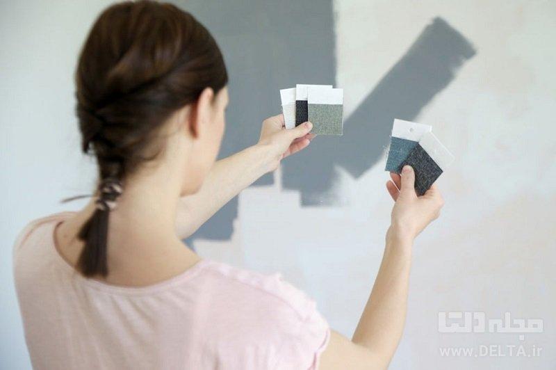 رنگ دیوار پذیرایی
