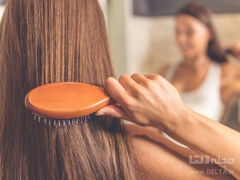 روش صحیح شانه زدن مو
