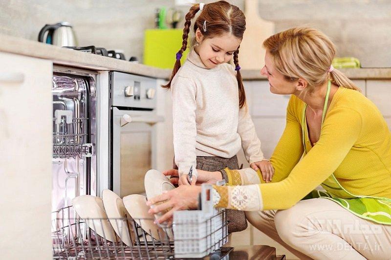 شستن ماشین ظرفشویی با سرکه