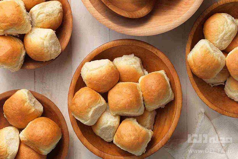 نان رول خانگی