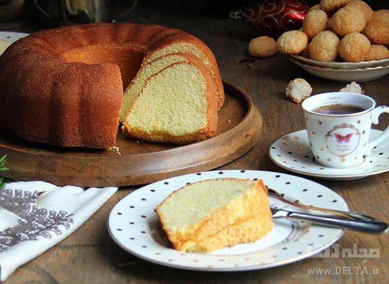 طرز تهیه کیک شیر داغ