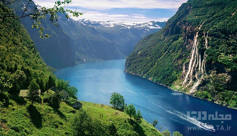 منطقه گیرانگر جاهای دیدنی نروژ