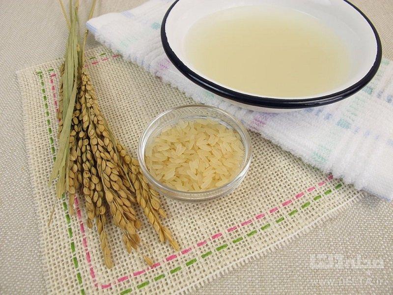 آب برنج برای سفیدی مو