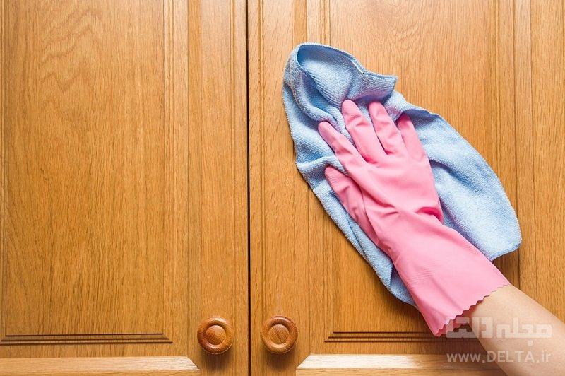 تمیز کردن کابینت