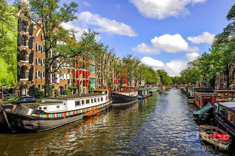 گذرگاه آبی آمستردام دیدنی های هلند