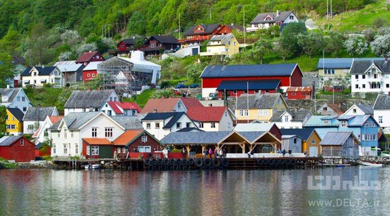 دهكده گيرانگر جاهاي ديدني نروژ
