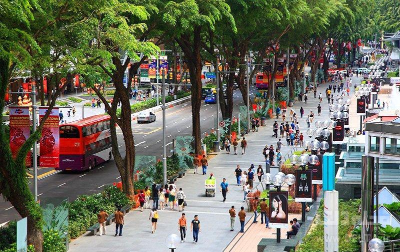 خيابان اورچارد ديدني هاي سنگاپور