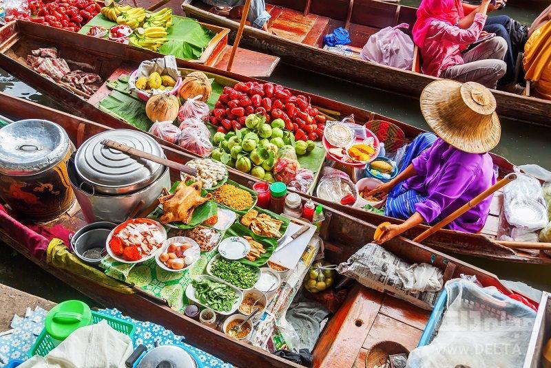 بازار شناور دیدنی های بانکوک