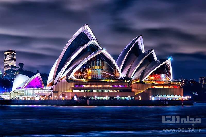خانه اپرای سیدنی جاذبه های گردشگری استرالیا