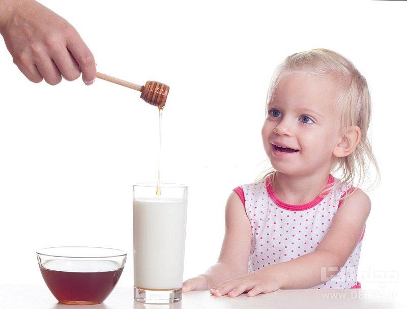 خواص عسل و شیر برای کودکان