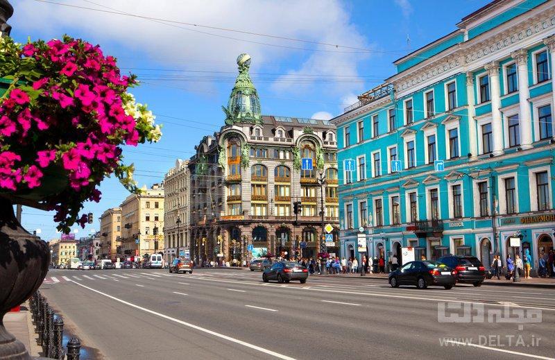 خيابان نوفسكي جاهاي ديدني سنت پترزبورگ