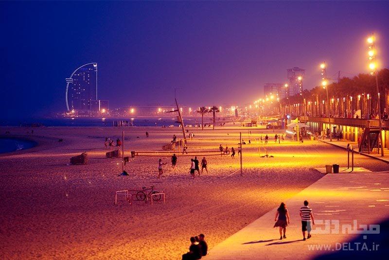 ساحل بارسلونتا جاذبه های بارسلونا