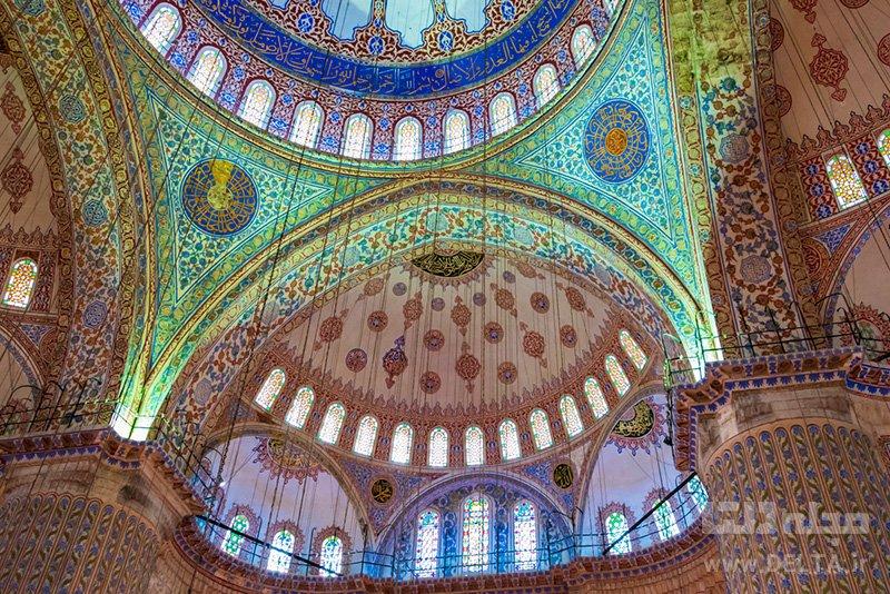 سقف مسجد سلطان احمد
