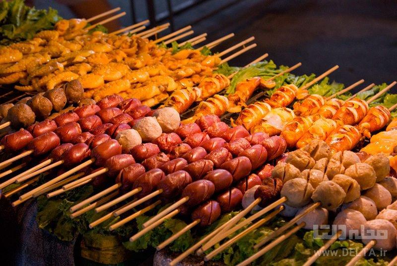غذاهای خیابانی دیدنی های بانکوک