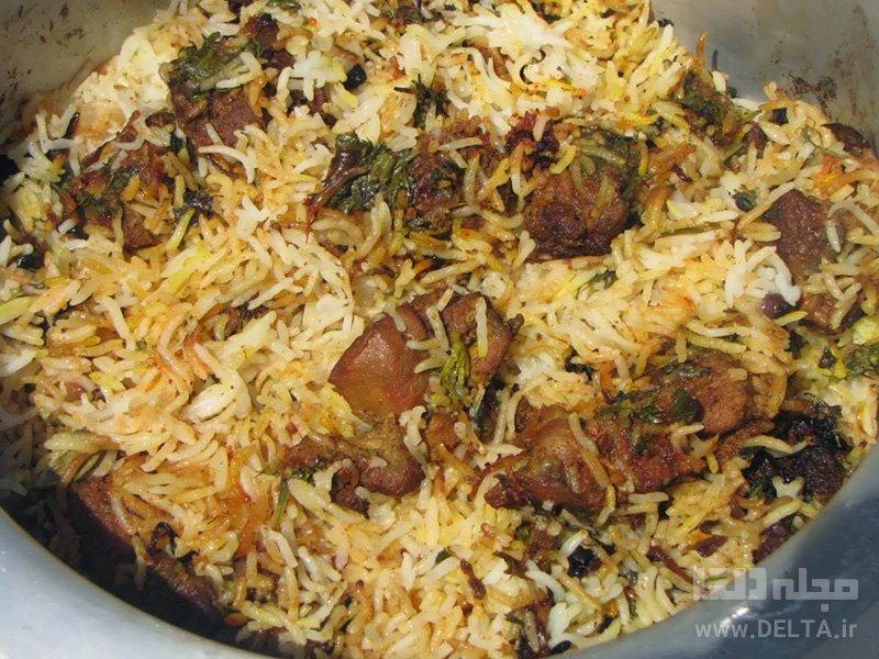 مجبوس گوشت پلو عربی