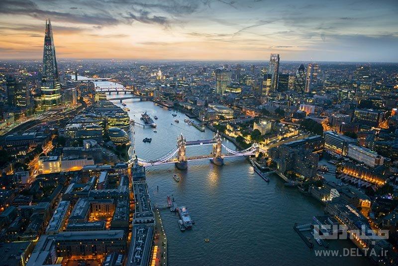 مناظر خیره کننده شارد جاذبههای لندن
