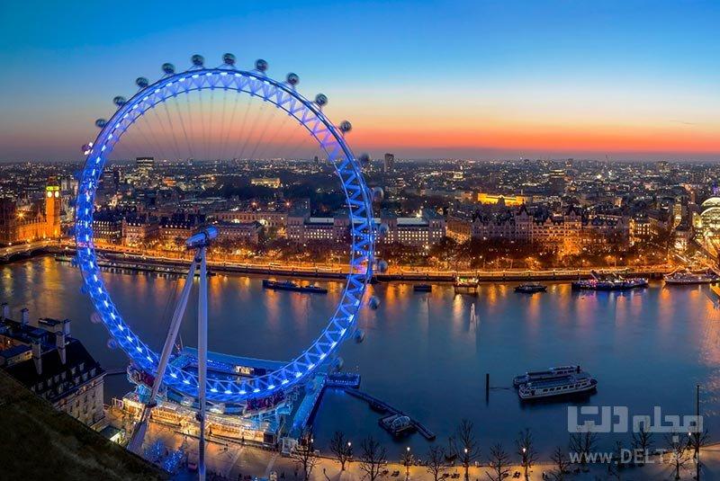 چرخ و فلک کوکا کولا لاندن آی جاذبههای لندن