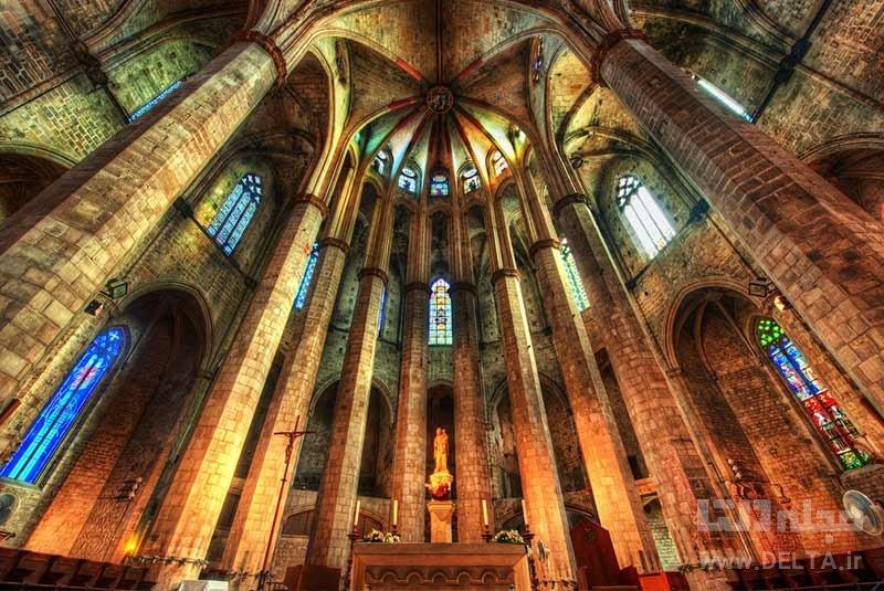 کلیسای سانتا ماریا دل مار جاذبه های بارسلونا