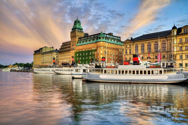 گردش با قایق جاذب های گردشگری استکهلم