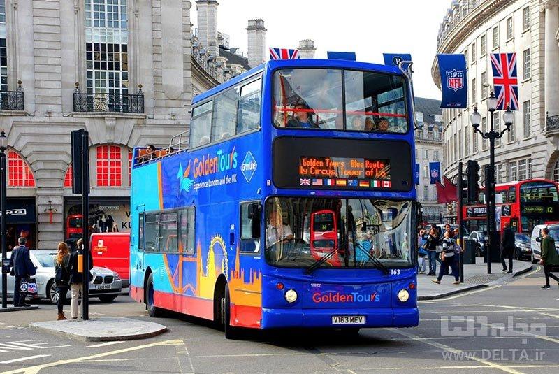 جاذبههای لندن گردش با اتوبوس های توریستی