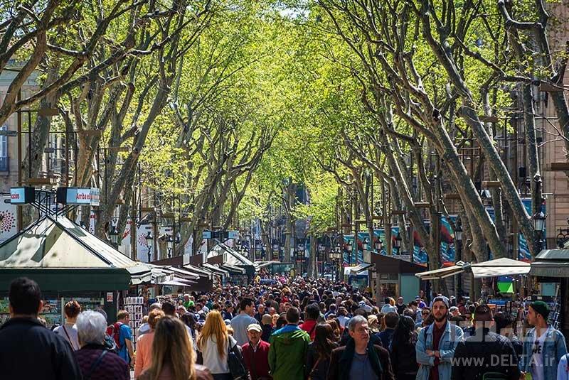 خیابان رامبلا جاذبه های بارسلونا