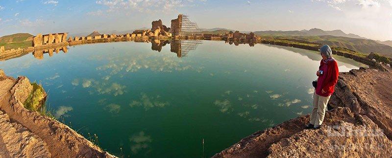 دریاچه تخت سلیمان تکاب استان آذربایجان غربی