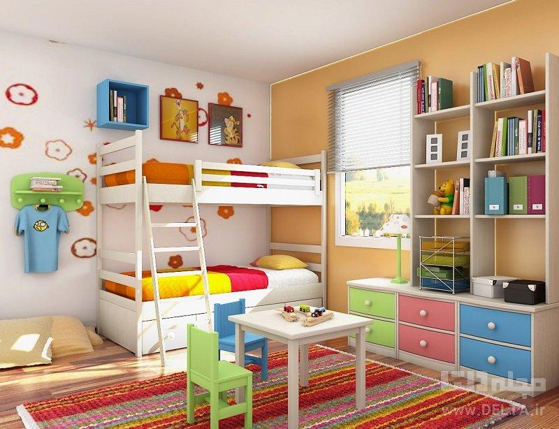 طیفی از رنگهای مختلف براید رنگ مناسب برای اتاق پسرانه