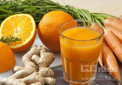 خواص آب هویج و زنجبیل