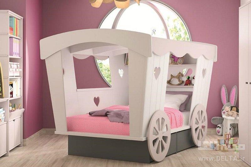 تختخواب فانتزی مدل کالسکه