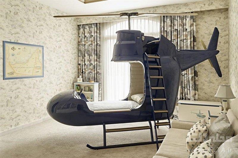 تختخواب فانتزی مدل هلیکوپتر
