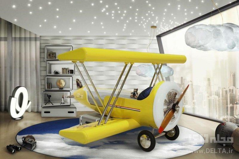تختخواب فانتزی مدل هواپیما