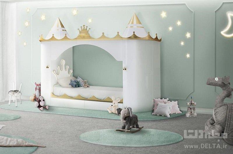 تخت خواب فانتزی کودک مدل قلعه