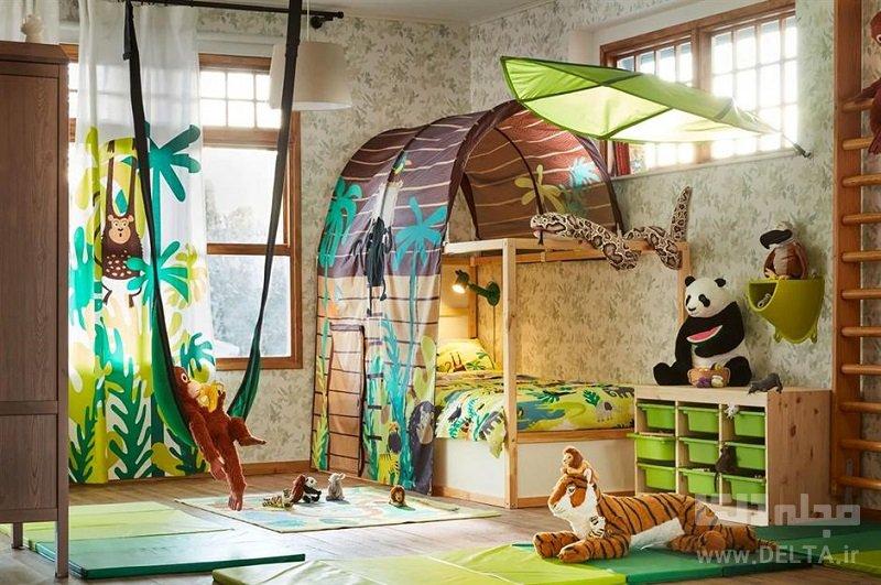تختخواب فانتزی مدل جنگل