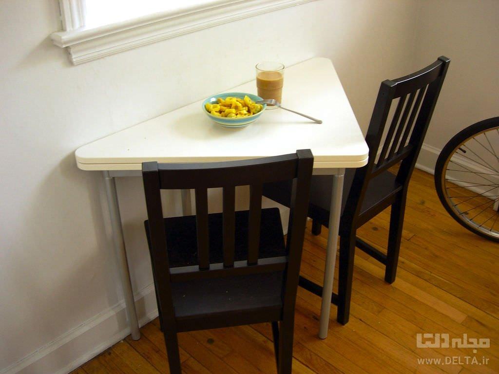 میز ناهارخوری کم جا
