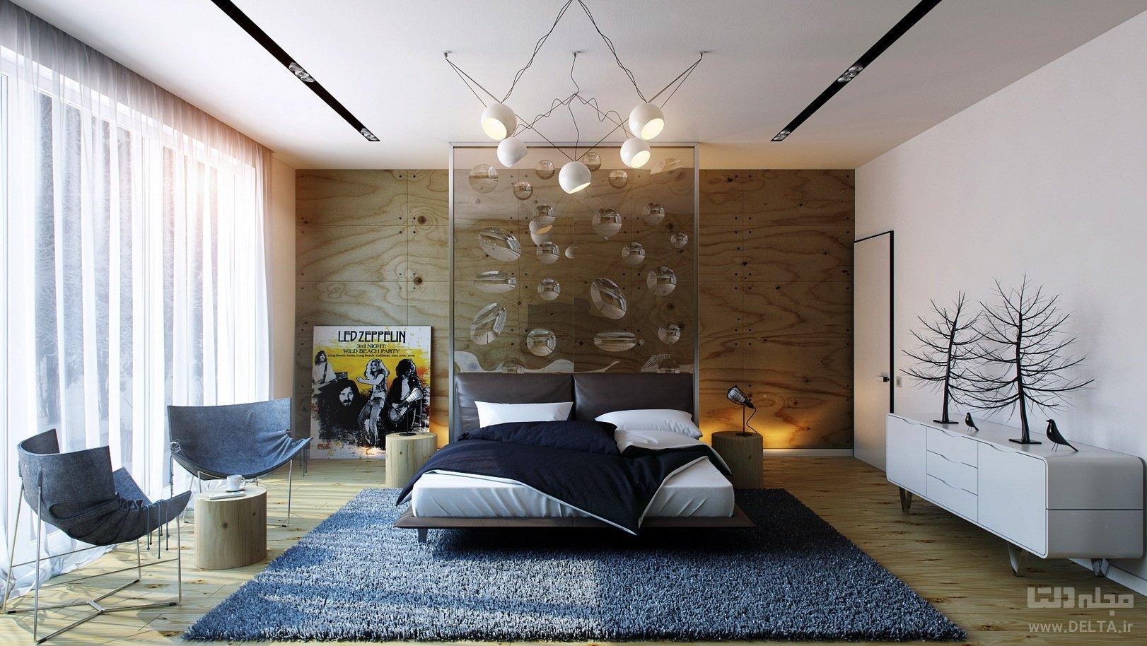 نورپردازی اتاق خواب مدرن