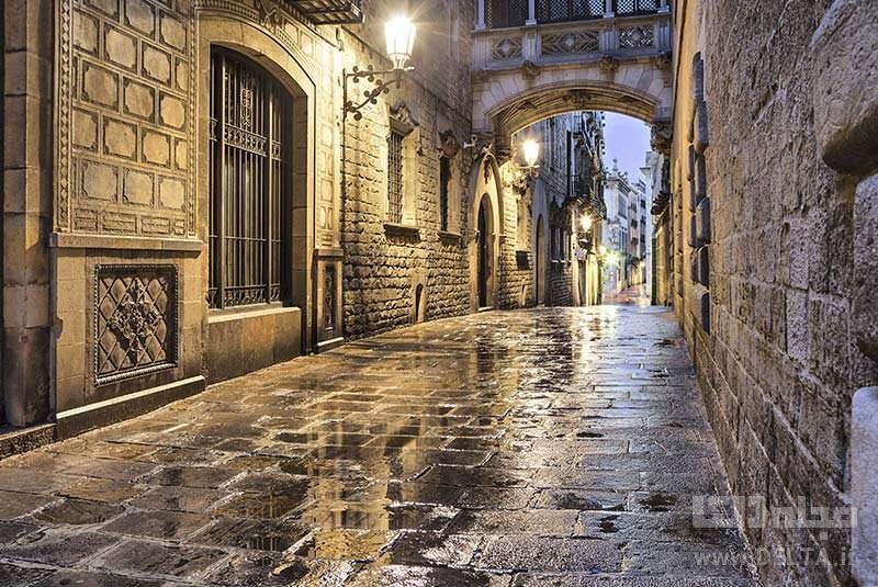 محله گوتیک جاذبه های بارسلونا