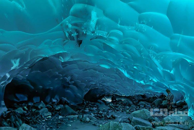 غارهای یخی، Mendenhall Glacier، آلاسکا، آمریکا جاذبه های گردشگری عجیب دنیا