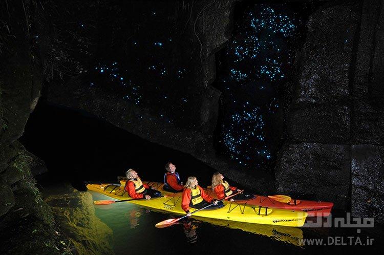 غار Glowworm(کرم شبتاب)، نیوزیلند جاذبه های گردشگری عجیب دنیا