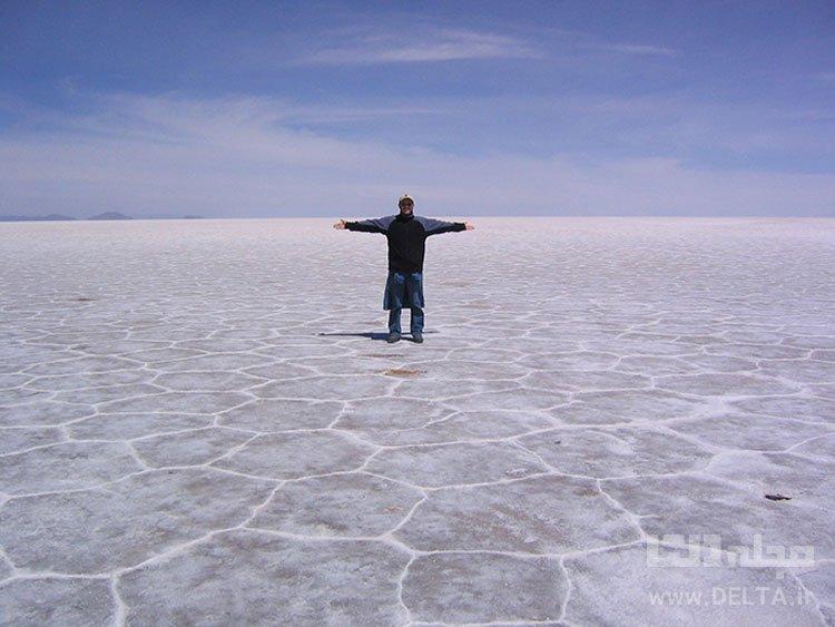 کاشیهای نمکی، Salar de Uyuni، جنوب بولیوی جاذبه های گردشگری عجیب دنیا
