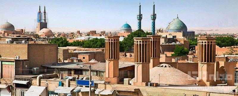 یزد بافت خشتی جاذبه های گردشگری ایران