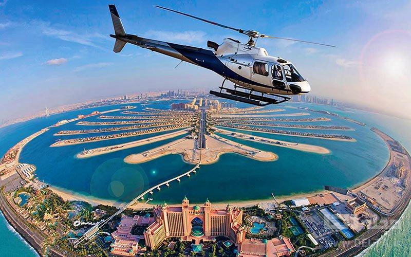 تور هلیکوپتر سواری تفریحات لاکچری دبی