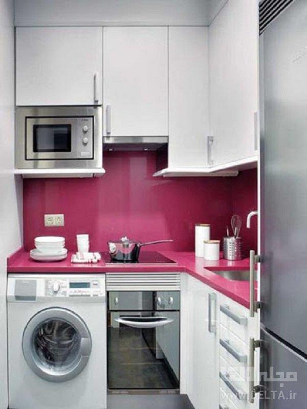 تضاد رنگی در دکوراسیون آشپزخانه های کوچک