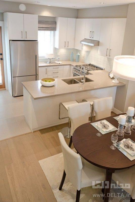 کانتر را بر اساس شکل آشپزخانه طراحی کنید