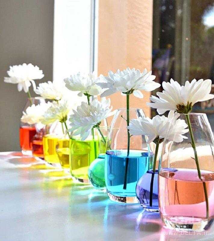 گلدانهای آب رنگی