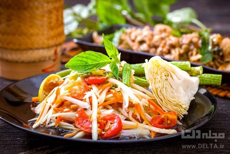 دانستنی های سفر به بانکوک ناهار به سبک سنتی تایلندی