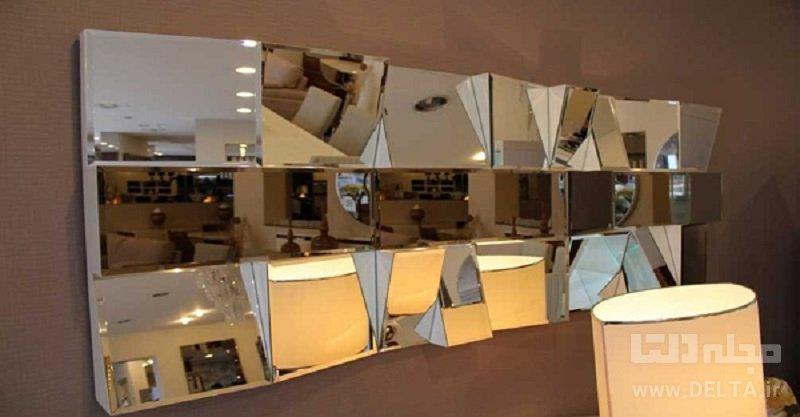 آینه کاری دیوار خانه