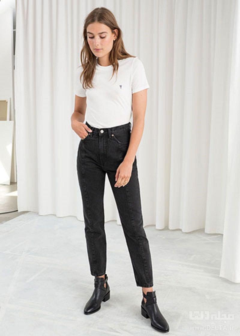 ست شلوار جین فاق بلند